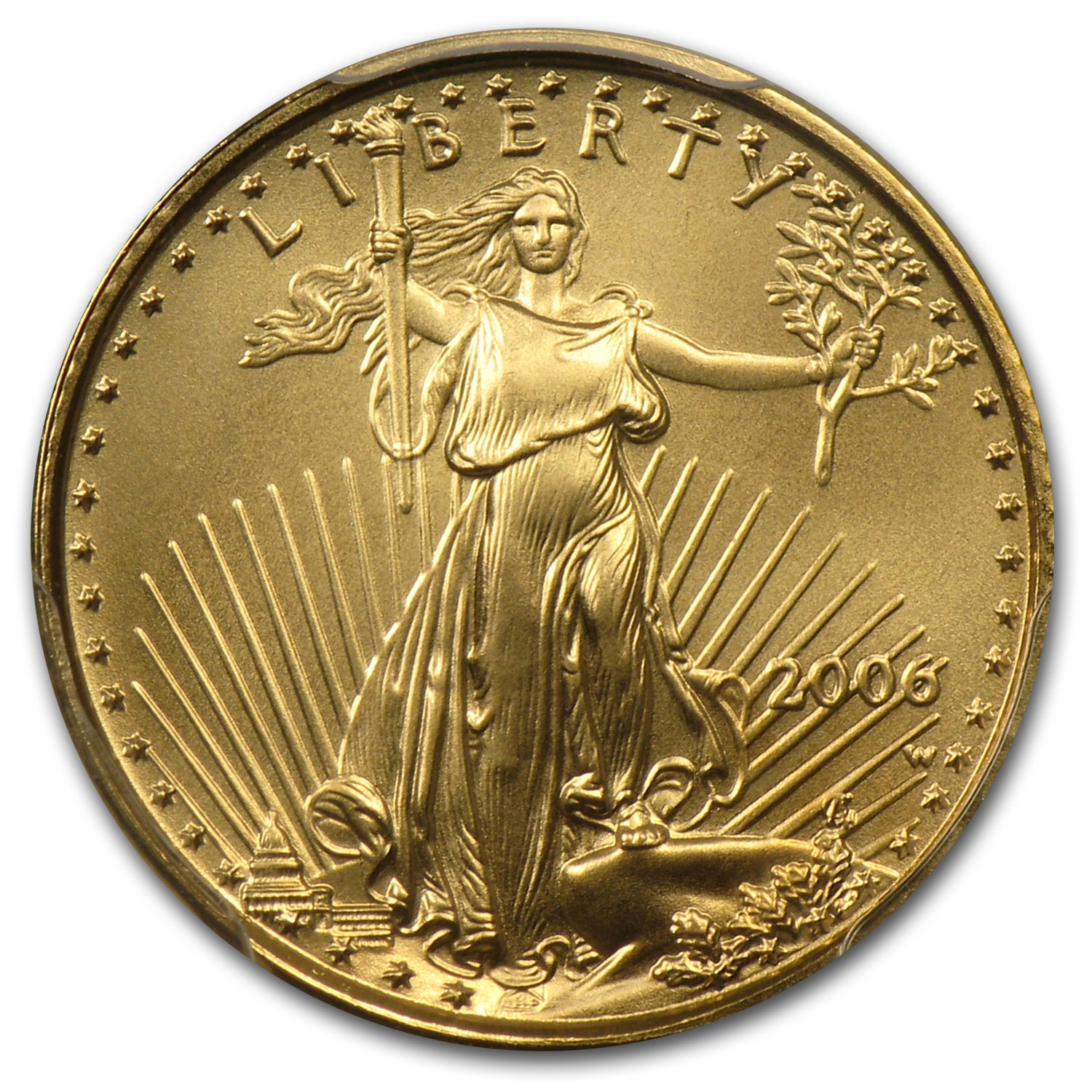 2006-W 1/10 oz Gold American Eagle MS-70 PCGS - West Point Label